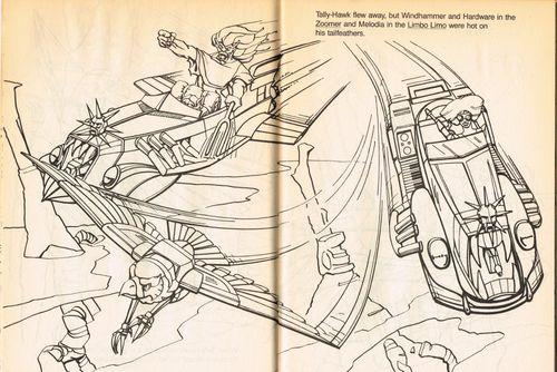 SilverHawks Sky-Shadow coloring bookSky-Shadow coloring book