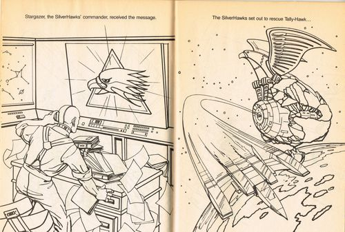 SilverHawks Sky-Shadow coloring book