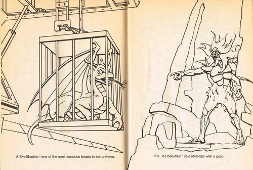 SilverHawks Sky-Shadow coloring book