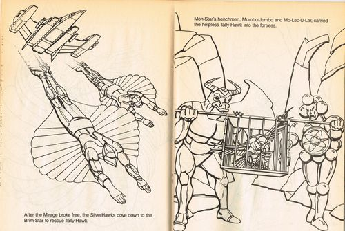 silverhawks coloring book