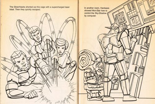 silverhawks coloring book