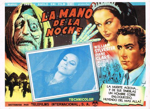 La Mano De La Noche Mexican Lobby Card