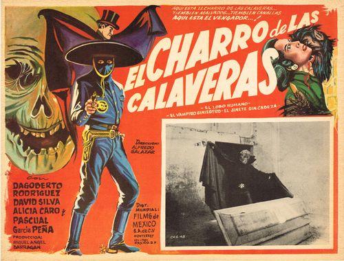 El Charro De Las Calaveras Mexican Lobby Card
