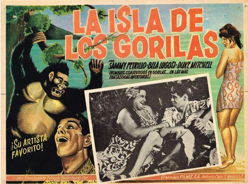 La Isla De Los Gorillas mexican lobby card