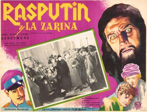 Rasputin Y La Zarina Mexican Lobby Card