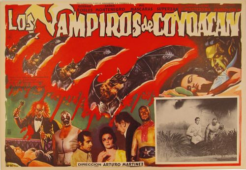 Los Vampiros De Coyoacan Mexican Lobby Card