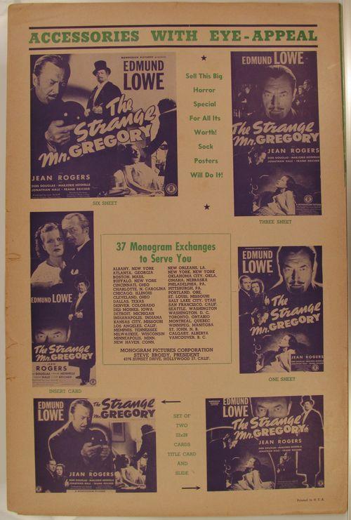 The Strange Mr. Gregory Pressbook
