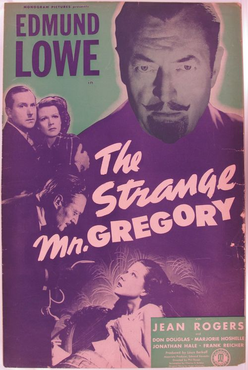 The Strange Mr. Gregory Pressbook