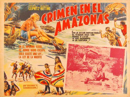 Crimen En El Amazonas Mexican Lobby Card