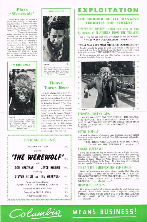 The Werewolf Pressbook