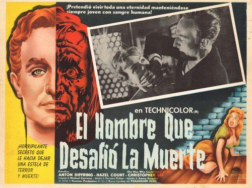 El Hombre Que Desafio La Muerte Mexican Lobby Card