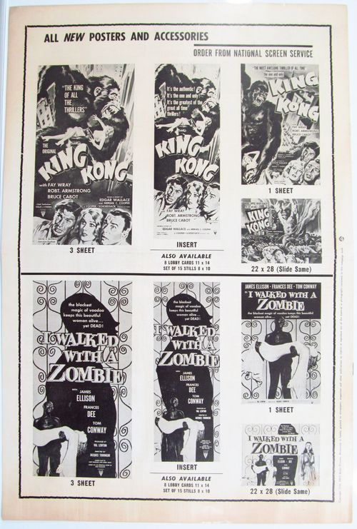 kong-and-I-walked-with-a-zombie pressbook