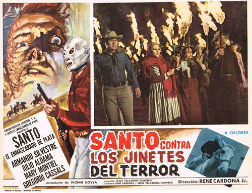 Santo Contra Los Jinetes Del Terror Mexican Lobby Card