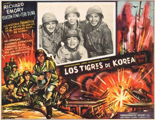 Los Tigres De Korea Mexican Lobby Card