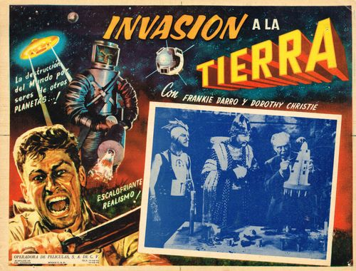 Invasion A La Tierra Mexican Lobby Card