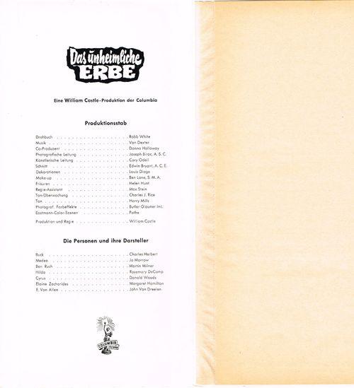 13 Ghosts German Pressbook