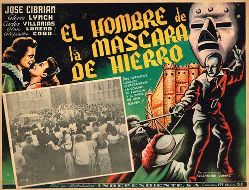 El Hombre De La Mascara De Hierro Mexican Lobby Card