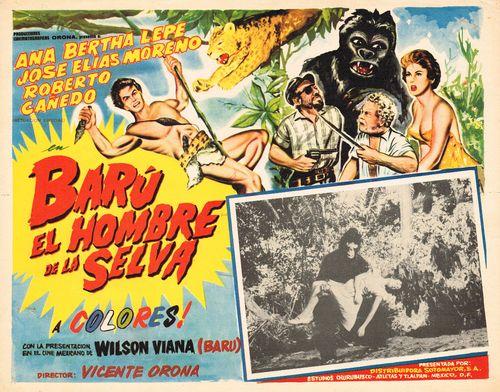 Baru El Hombre De La Selva Mexican Lobby Card