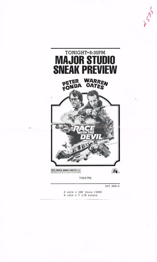 movie pressbook race with the devil