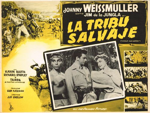 mexican lobby card la tribu salvaje
