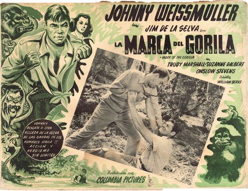 mexican lobby card mark of the gorilla jungle jim