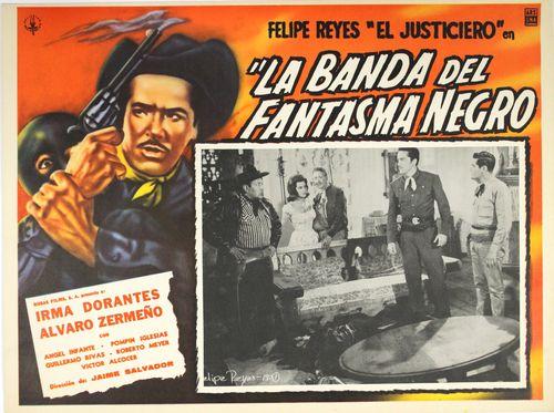 Mexican Lobby Card La Banda Del Fantasma Negro