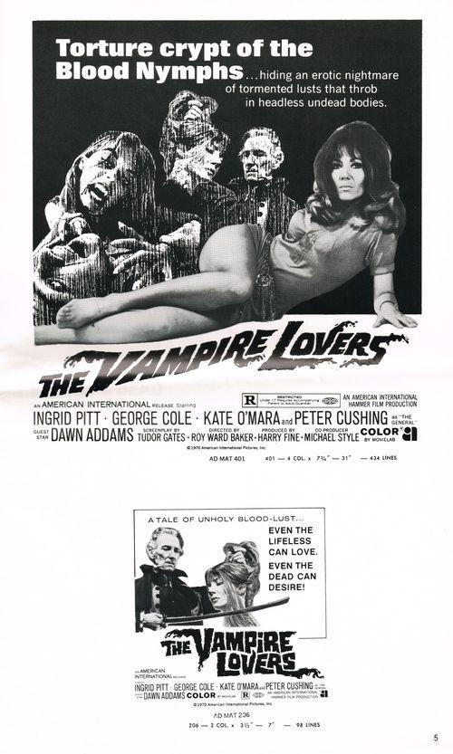 Vampire lovers pressbook 5