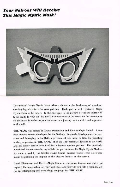 The mask pressbook 3