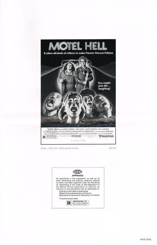 motel hell pressbook
