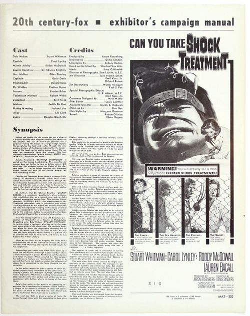 Shock treatment pressbook 1