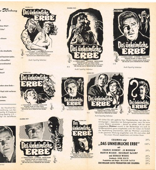 13 Ghosts German Pressbook