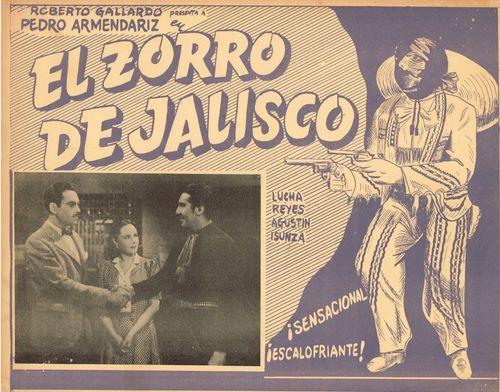 El Zorro De Jalisco Mexican Lobby Card