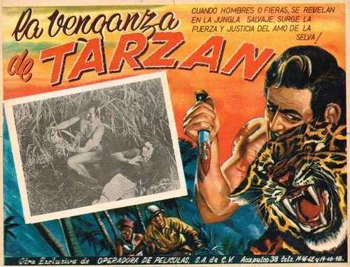 Mexican Lobby Card La Venganza De Tarzan