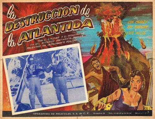 Mexican Lobby Card La Destruccion De La Atlantida