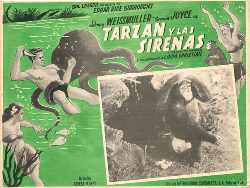 Mexican Lobby Card Tarzan Y Las Sirenas