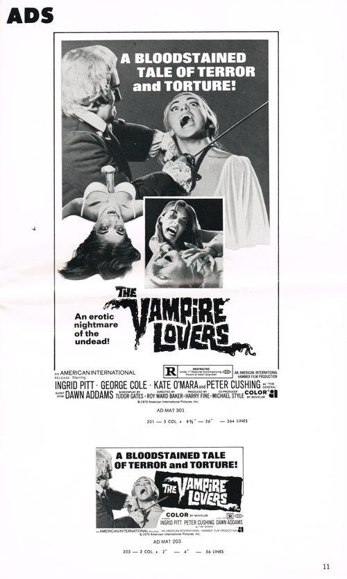 Vampire lovers pressbook 9