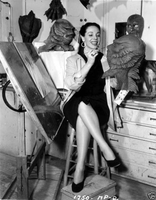 "Behind the scenes of ""Creature From the Black Lagoon"", 1954 (11)"