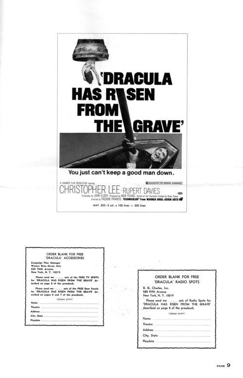 Dracula has risen pressbook 9