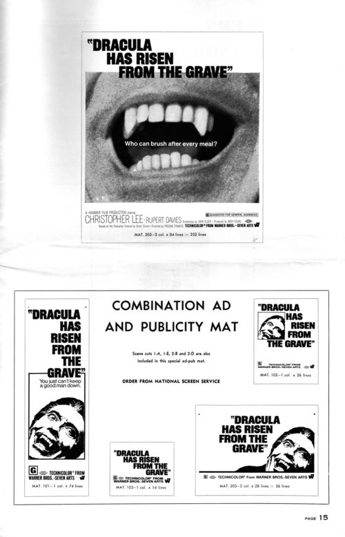 Dracula has risen pressbook 15