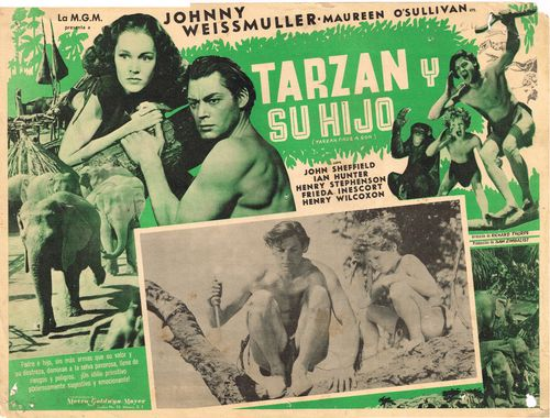 mexican lobby card tarzan finds a son