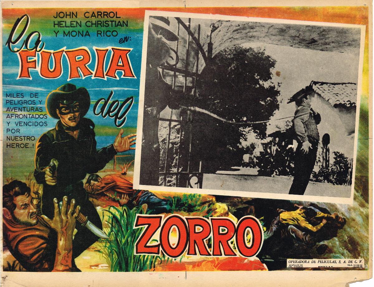 Zorro Rides Again Mexican Lobby Card Zorro Rides Again From Zombos Closet