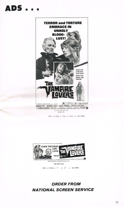 Vampire lovers pressbook 8