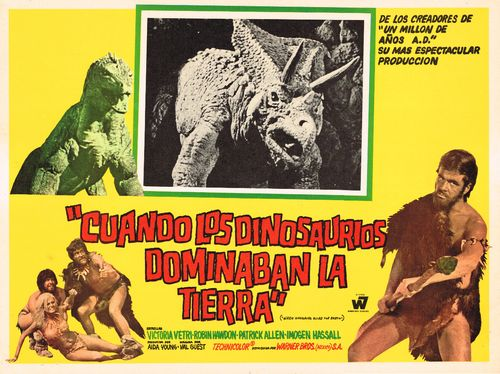 Mexican lobby card Dinosaurs Ruled the Earth
