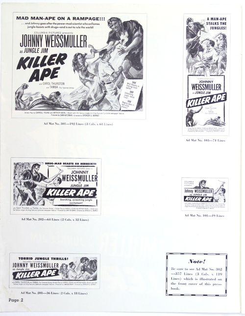 Killer ape pressbook 2