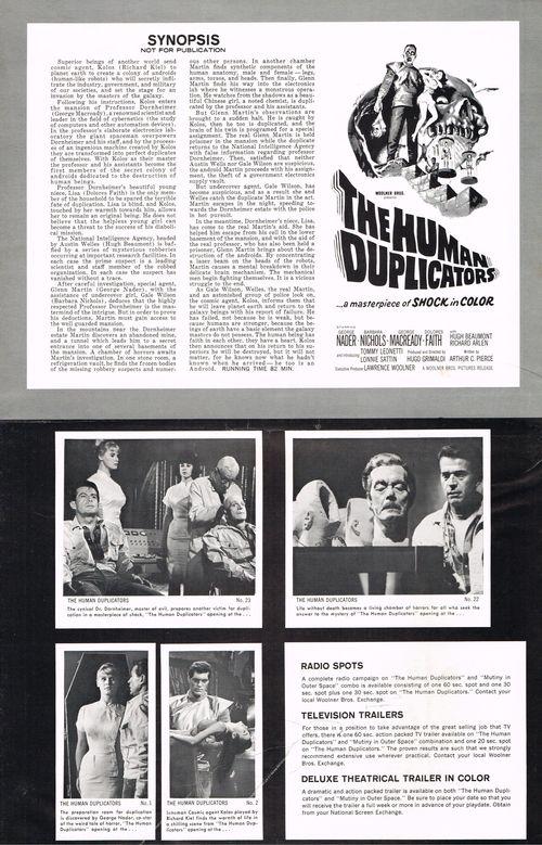 Human duplicators pressbook 2
