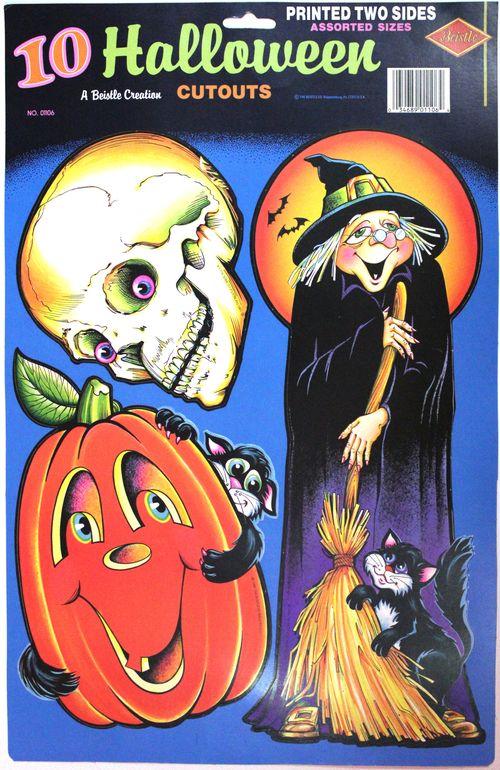 Halloween beistle assorted cutouts
