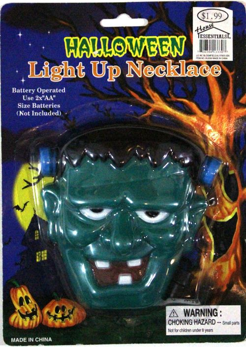 Halloween Frankenstein Light-Up Necklace