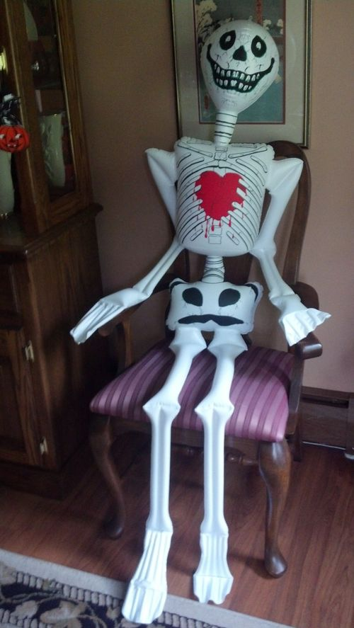 halloween inflatable skeleton