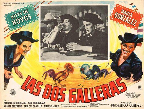 las dos galleras mexican lobby card
