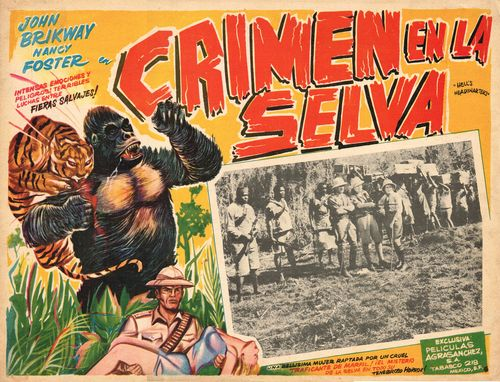 mexican lobby card crimen en la selva